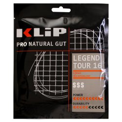 KLIP Tennissaite Legend Tour Naturdarmsaite 12 m Set
