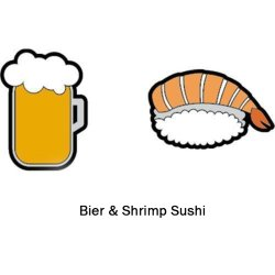 Gamma Vibrationsdämpfer String Things Bier/Shrimp Sushi