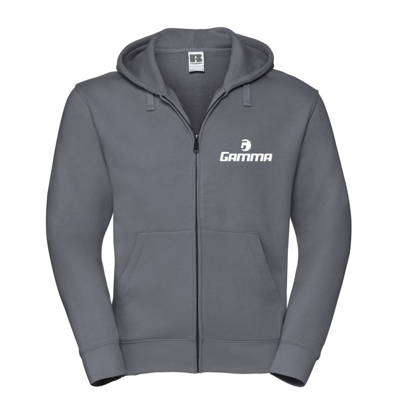 Gamma Tennis Authentic Zipped Hood, Grau L
