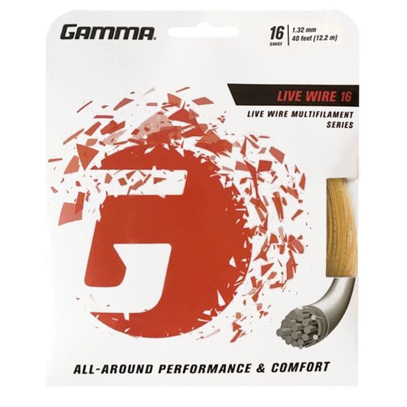 Gamma Tennissaite Live Wire 12,2 m Set 16 (1.32 mm)