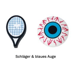Gamma Vibrationsdämpfer String Things Schläger/Blaues Auge